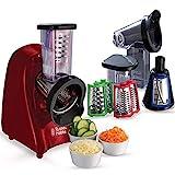 Russell Hobbs Slice & Go - Picadora (200 W, Accesorios Rallador y Cortador de verduras, Inox, Rojo) - ref. 22280-56