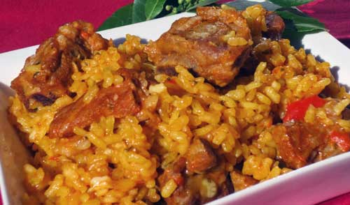 receta arroz con costillas adobadas