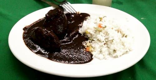 receta de arroz blanco con mole