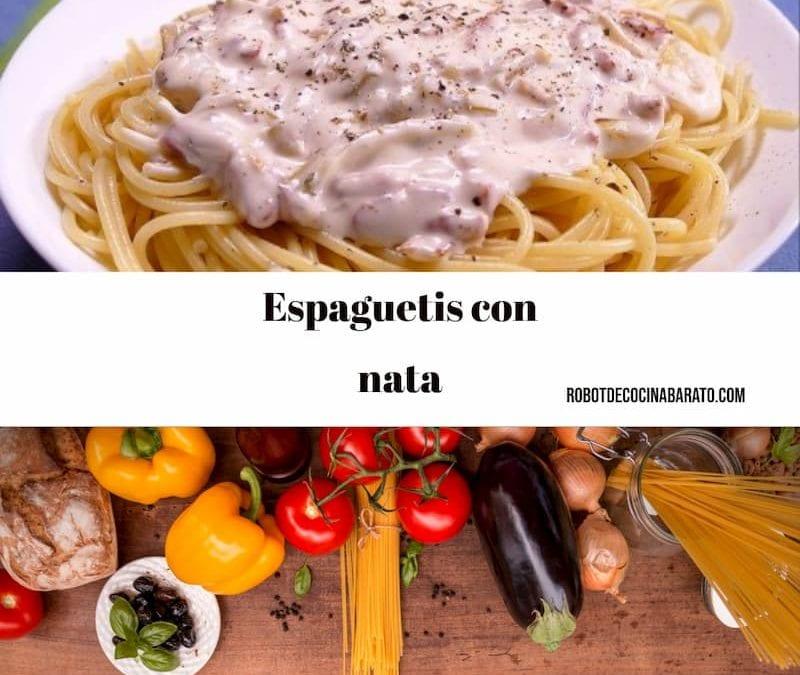 Espaguetis con nata