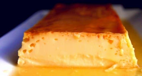flan de naranja y leche condensada