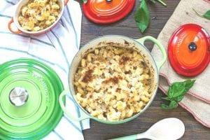 macarrones con queso y jamon